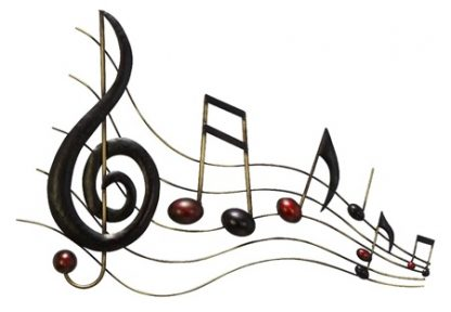 Musical Notes Cast Iron Metal Wall Decor