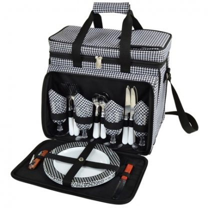 Picnic at Ascot 230-HT Houndstooth Picnic Cooler for Four