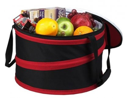 Picnic at Ascot 494-R Pop-Up 24-12 oz Can Party Cooler Open Lid