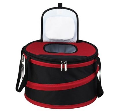 Picnic at Ascot 494-R Pop-Up 24-12 oz Can Party Cooler Black/Red