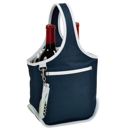 Picnic at Ascot 512-BLB Two Bottle Wine Tote