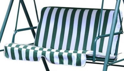 2 Person Patio Canopy Swing Green and White